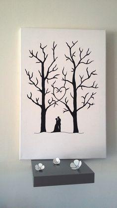 """arbre à empreintes """" autant en emporte l'amour """" : Décorations murales par…"""