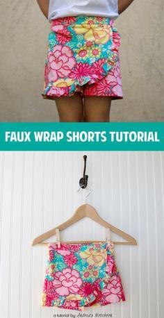 Faux Wrap Shorts Tutorial