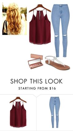 """Back To School Outfit"" by torifreund217 ❤ liked on Polyvore featuring Glamorous, Apt. 9 and Urban Decay"
