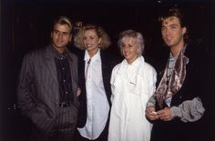 British pop stars Steve Norman and Martin Kemp of Spandau Ballet with their girlfriends, including Shirley of Wham! Boy George, George Michael, Martin Kemp, Star Wars, Ballet Photos, Stock Foto, Lose My Mind, Pop, Norman
