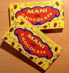 Maní con chocolate ! Lo llevábamos al cine y se lo tirábamos a los que miraban la película cuando estábamos aburridos!