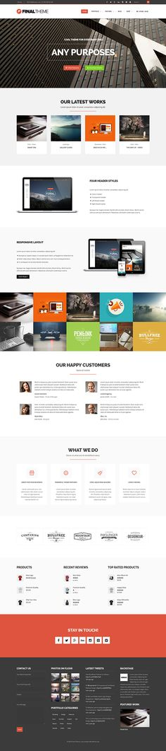 Final - Elegant Business & Portfolio Theme on Behance