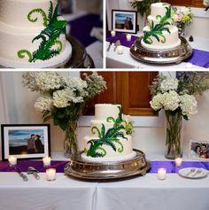 Wedding Cake with Fern Decoration