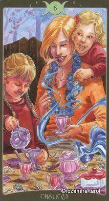 Bài dịch Lá 6 of Chalices - Book of Shadows Tarot (So Below) bài tarot Xem thêm tại http://tarot.vn/la-6-chalices-book-shadows-tarot/