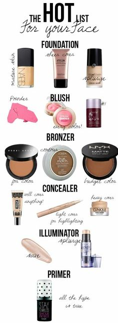 The Hot List for all your makeup needs to look your best! #makeup