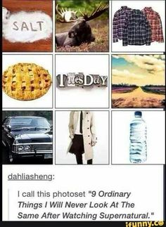 Oh so it's not about supernatural? Oh I see these are just thing.. But now they not...