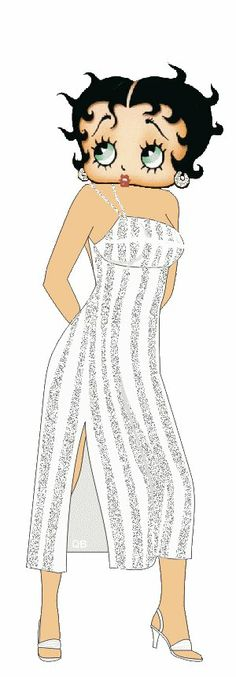 Sexy Betty in a cute white summer dress ~  #bettyboop #illustration #cartoons ✿⊱╮