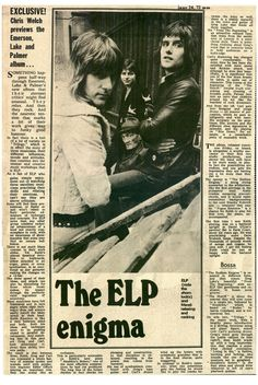 ELP Greg Lake, Emerson Lake & Palmer, Progressive Rock, Joy And Happiness, Classic Rock, Rock Music, Concerts, Rock Bands, The Beatles