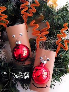 Christmas Ornament Rudolph Reindeer Kids Craft Christmas Activities For Families, Christmas Crafts For Kids To Make, Fun Crafts For Kids, Holiday Activities, Christmas Items, Kids Christmas, Merry Christmas, Christmas Decorations, Christmas Ornaments