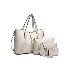91ee78f305 SIFINI Femmes Mode PU Sac à main en cuir + sac à bandoulière + sac à main +  titulaire de la carte 4pcs Set fourre-tout: Amazon.fr: Bagages