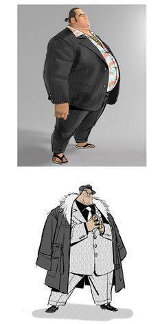 Wasabi e Yama, de Big Hero 6!, por Jin Kim | THECAB - The Concept Art Blog