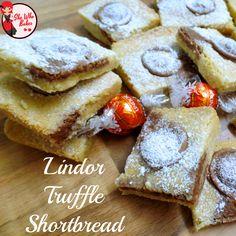 Lindt Lindor Truffle Shortbread Bars Recipe - She Who Bakes