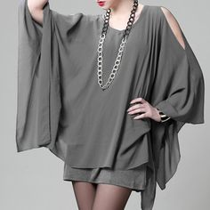 Stylish V-Neck Long Sleeve Special Cut Solid Color Chiffon Women's Blouse