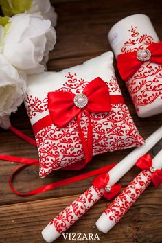 Red Silver Wedding, Ivory Wedding, Wedding Ring, Ring Bearer Pillows, Ring Pillow, Unity Candle, Candles, Card Box Wedding, Wedding Season