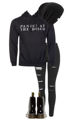 """death of a bachelor//panic! at the disco"" by bands-are-my-savior ❤ liked on Polyvore featuring Topshop, Dr. Martens and Coal"