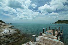 Koh Phangan, Thailand....... Standing on the Pier in front of Santhiya Resort.