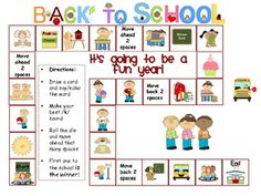 Back to School!  Speech Therapy Game and Activity Packet