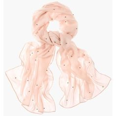 Chico's Faux-Pearl Beaded Scarf (865 MXN) ❤ liked on Polyvore featuring accessories, scarves, paris pink, beaded shawl, chicos scarves, beaded scarves, pink scarves and pink shawl