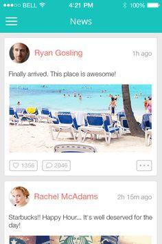 News feed for social app.