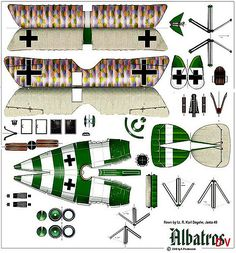 Albatros D.V | Flown by Lt. R. Karl Degelw, Jasta 40 | Tom Wigley | Flickr Origami And Kirigami, Origami Folding, Origami Paper, Paper Airplane Models, Model Airplanes, Pumpkin Coloring Pages, Airplane Drawing, Paper Aircraft, Free Paper Models