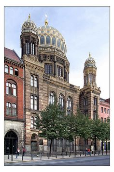 08.09.04.01 Berlin - Neue Synagoge - Eduard Knoblauch Berlin, Rda, Place Of Worship, Cathedrals, Temples, Castles, Taj Mahal, Religion, Germany
