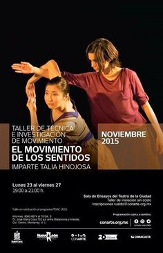 #TALLERES: Este 23 de noviembre Talia Hinojosa estará ofreciendo un taller de danza en el Teatro de la Ciudad esto como proyecto de retribución de la beca PIDAC.  Acompáñanos! La entrada es libre. #CONARTE20