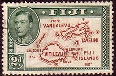 Fiji 1938 SG 254 Map of Fiji Islands Fine Used SG 254 Scott 133 Die II perf 13 5 Other Commonwealth Stamps HERE