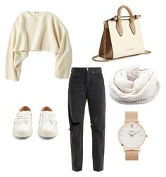 """""""."""" by elliefox28 on Polyvore featuring Aquazzura, Uniqlo, RE/DONE, Strathberry and CLUSE"""