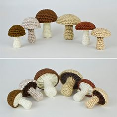 PDF Mushroom Collection: six realistic CROCHET por PlanetJune