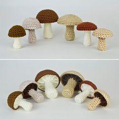 PDF Mushroom Collection: six realistic CROCHET by PlanetJune
