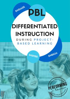 Do you know how to differentiate during project-based learning? Find out some quick and easy things you can do before and during your PBL to make sure ALL learners are successful! #PBL