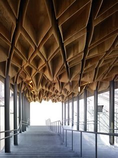 Hoshakuji Station, Japan by Kengo Kuma and Associates