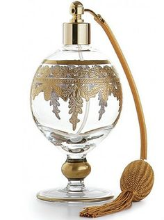Arte Italica Baroque Etched Glass Gold Atomizer Perfume Bottle Made in Italy | eBay