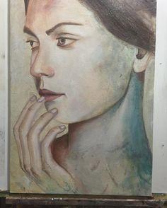 5 phase in progress #paint #painting #beauty #figure #artnews #oilpainting #oilpaint #colorful #art #artist #arts #artgallery