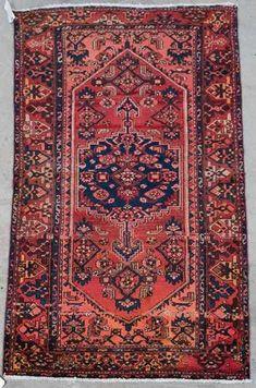 """Hand Woven Zanjan Rug or Carpet, 4' x 6' 10"""""""