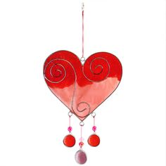 Wholesale Red/pink heart suncatcher - Something Different