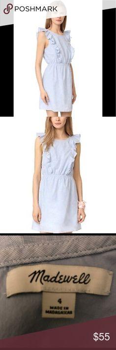 Madewell bellflower ruffle dress Gorgeous Madewell bellflower ruffle dress. Think spring!!🌷 Excellent condition! Madewell Dresses