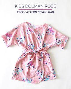Free pattern: Kids' dolman robe