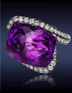PURPLE diamond ring...