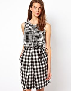 Enlarge Paul by Paul Smith Day Dress in Mixed Gingham Print