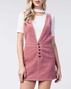 6cadd71ea71 HONEY BELLE - overall dress - pink