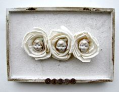 Antique Rose Doll Mixed Media Shadow Box by Studiomoonny on Etsy