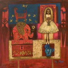 The Flower Girl by Morag Muir Peter Wileman, Still Life, Contemporary Art, Classy, Flower, Gallery, Artwork, Painting, Art