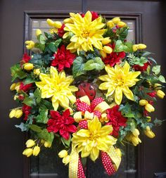 Summer Wreaths, Wreath Summer Door, Door Wreaths, Outdoor Wreath, Summer Decor