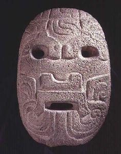 "Basalt Olmec Mask - PF.4634 Origin: Mexico Circa: 900 BC to 500 BC Dimensions: 13.5"" (34.3cm) high"