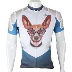 (37.15$)  Watch here  - 2016 New Free shipping Beverly Hills Chihuahua Men's Cycling Jersey Full Zipper Bike Shirts White Cycling Clothing Size S-6XL