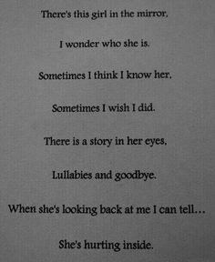 Hurting inside.