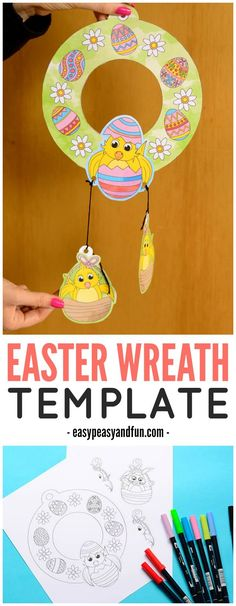 Printable Easter Wreaths