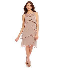 S.L. Fashions Tulip Tiered Dress