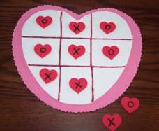 Preschool Crafts for Kids*: Valentine's Day Heart Tic Tac Toe Game Craft